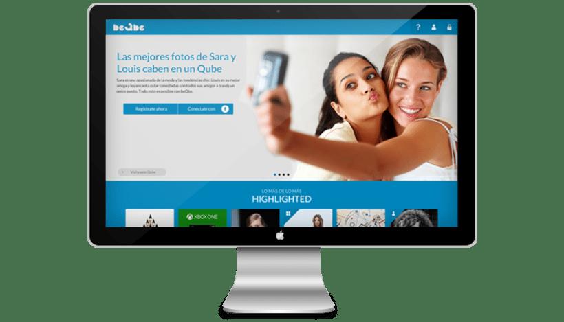 Diseño web red social BEQBE -1