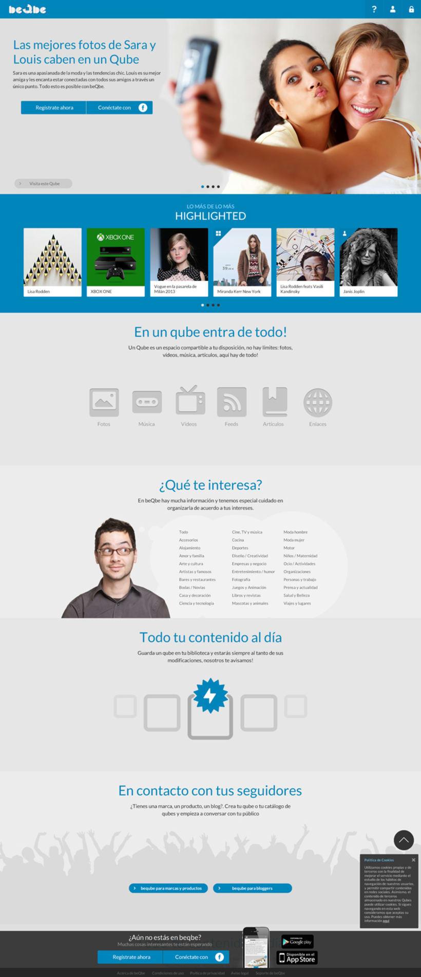 Diseño web red social BEQBE 0