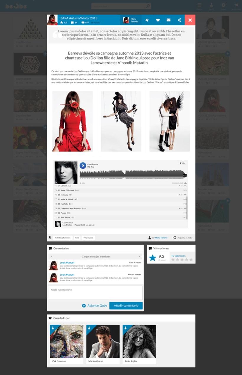 Diseño web red social BEQBE 1