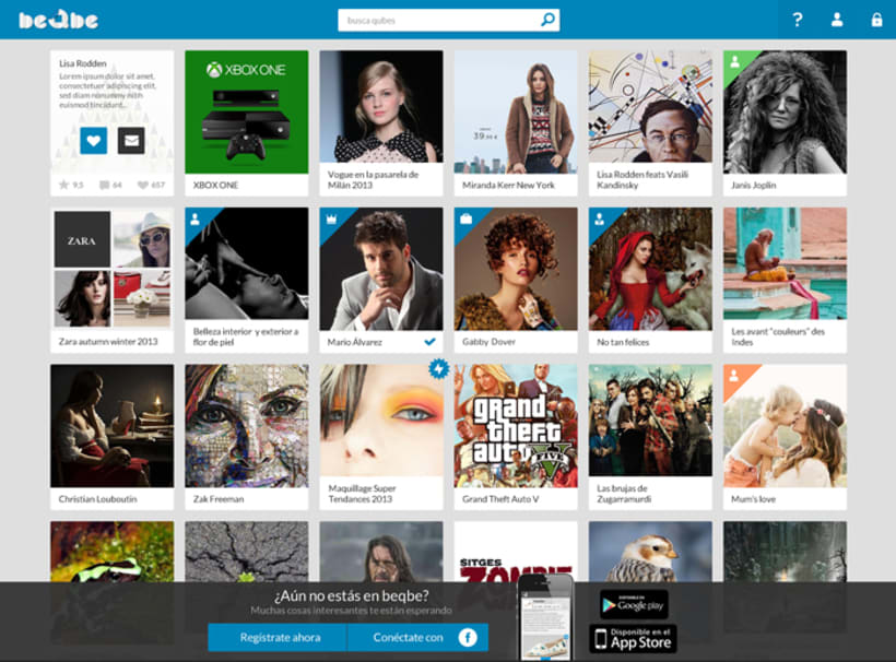 Diseño web red social BEQBE 2