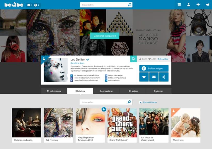 Diseño web red social BEQBE 3