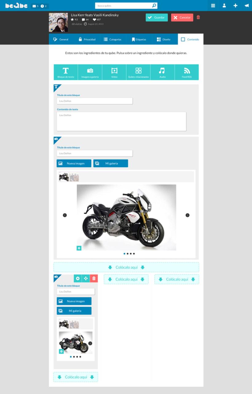 Diseño web red social BEQBE 4