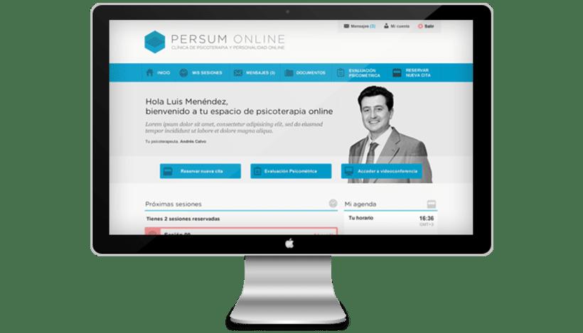 Plataforma videoterapia PERSUM Online 0