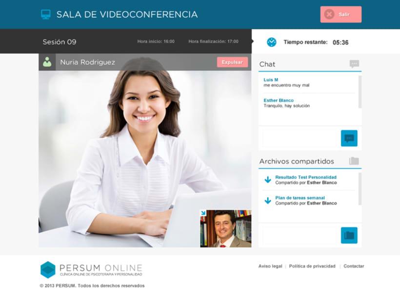 Plataforma videoterapia PERSUM Online 7