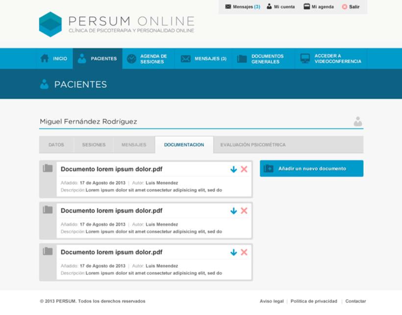 Plataforma videoterapia PERSUM Online 8