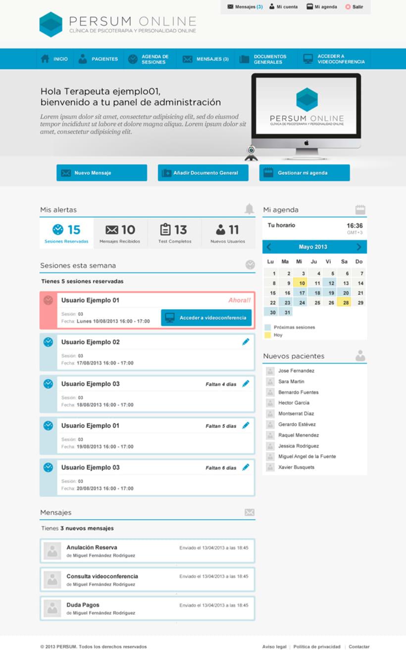 Plataforma videoterapia PERSUM Online 9