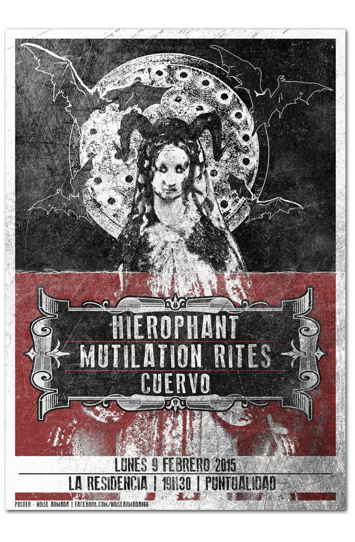 HIEROPHANT + MUTILATION RITES + CUERVO | poster -1