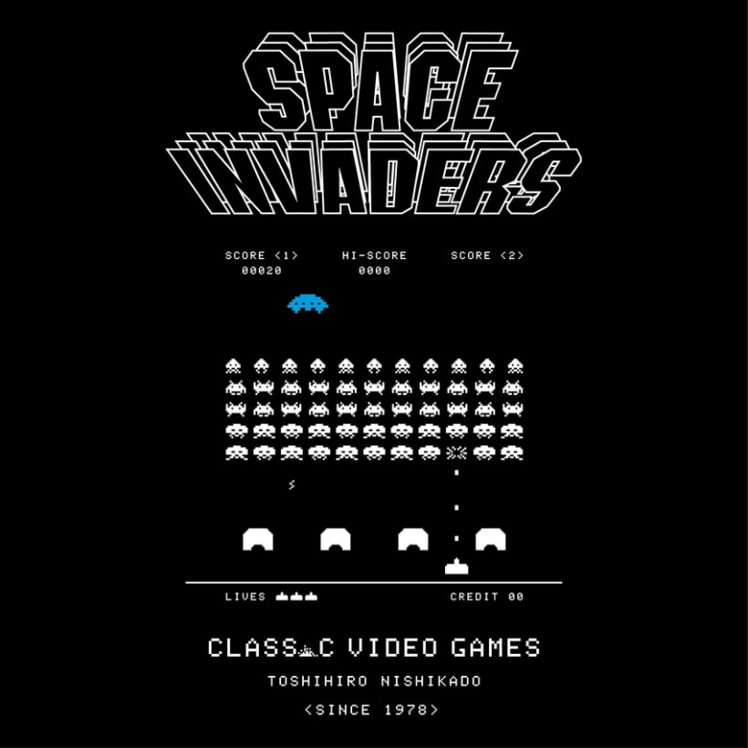 CLASSIC VIDEO GAMES INVADERS 0