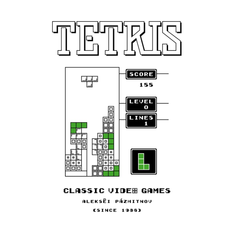CLASSIC VIDEO GAMES TETRIS 2