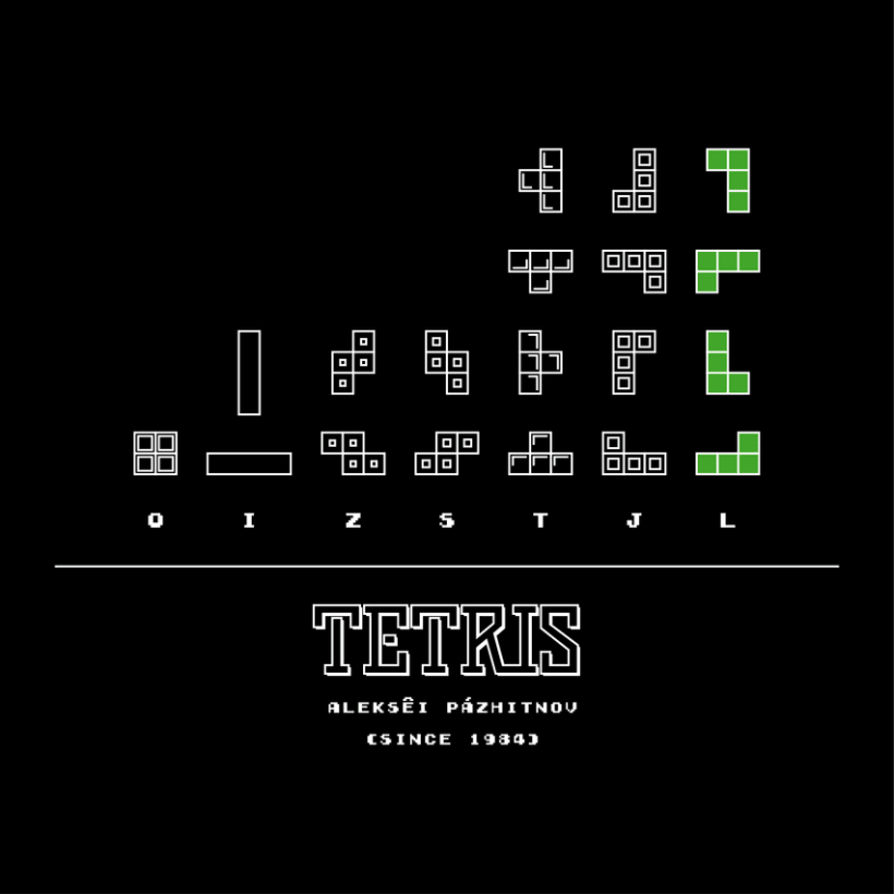 CLASSIC VIDEO GAMES TETRIS 1