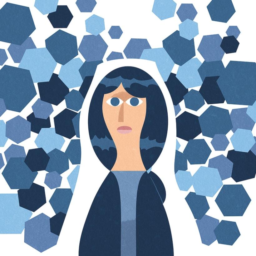 Hexágonos azules 1