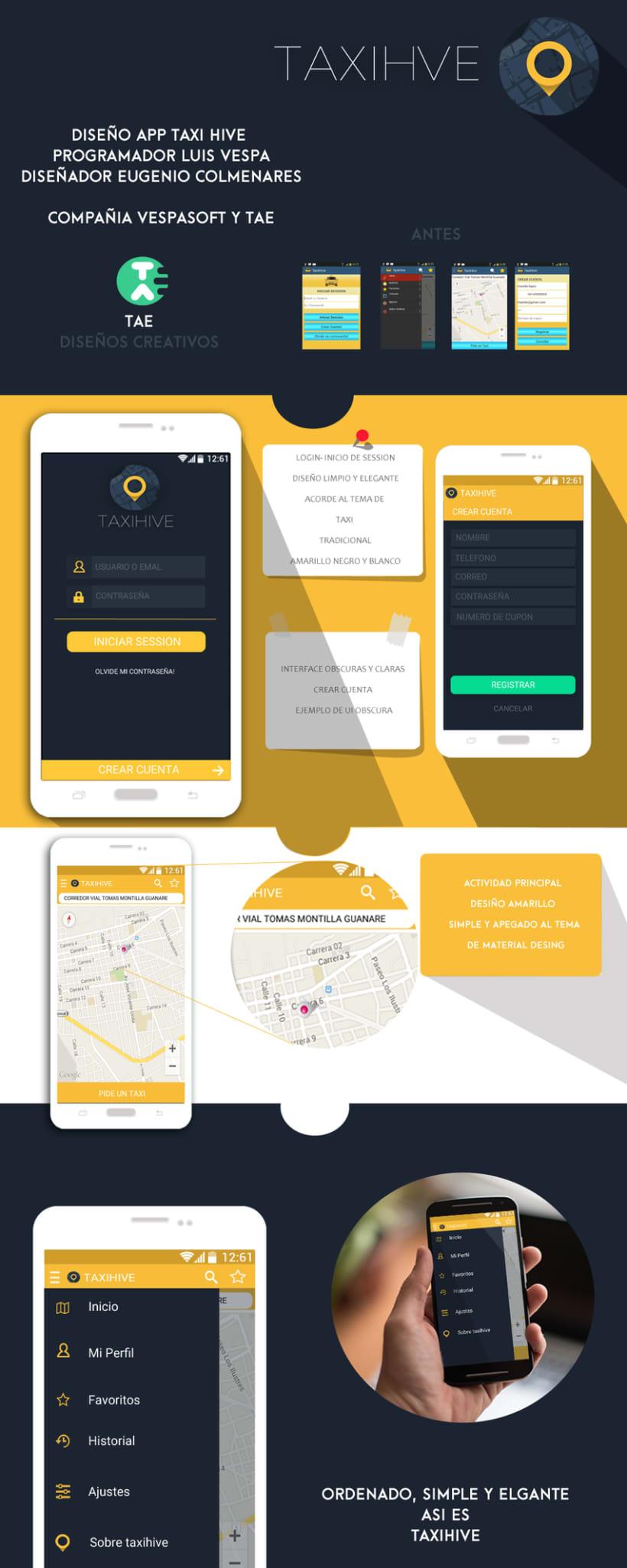 concept ui interface user for taxihive app venezolana, diseño conceptual de la interface de usuario de taxihive aplicacion venezolana  1