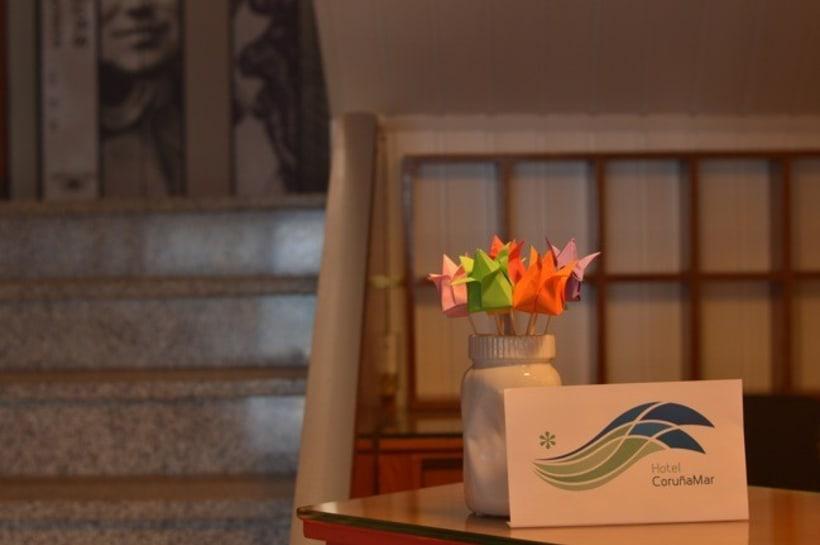 Identidad corporativa de Hotel Coruña Mar 1