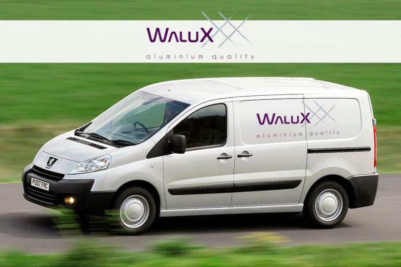 Identidad corporativa de Walux 3