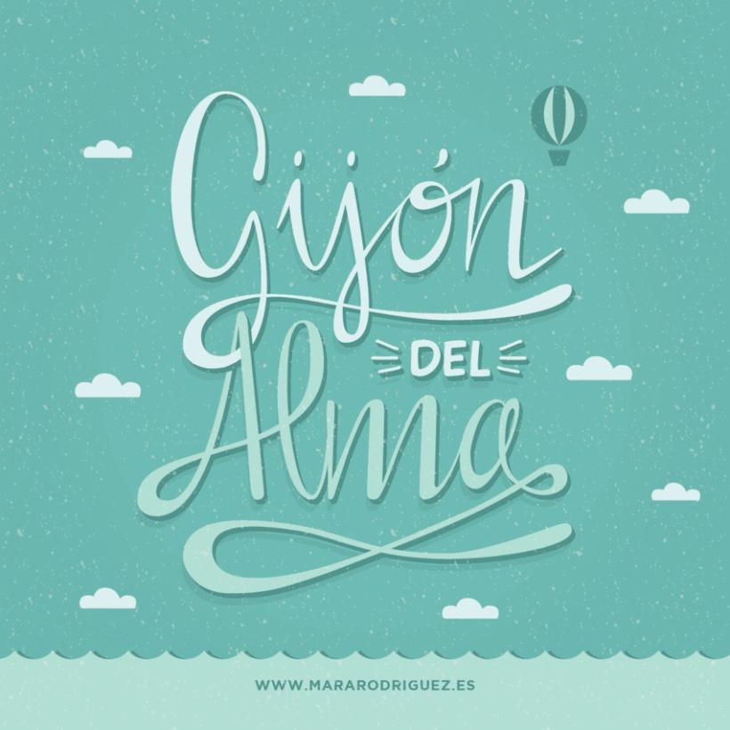 Gijón del Alma - Los secretos dorados del Lettering -1