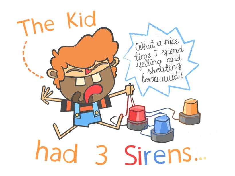 El niño tenía 3 sirenas 1
