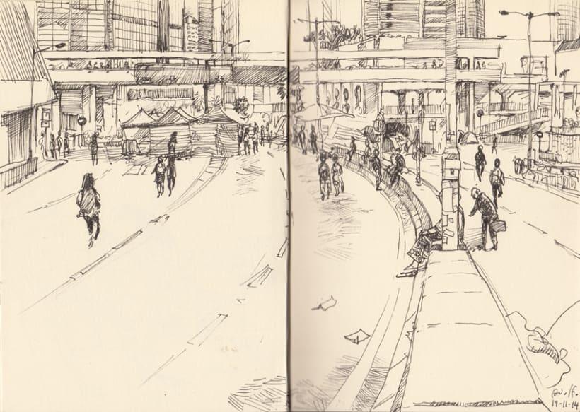 """Dibujando """"Occupy Central"""" en Hong Kong 4"""