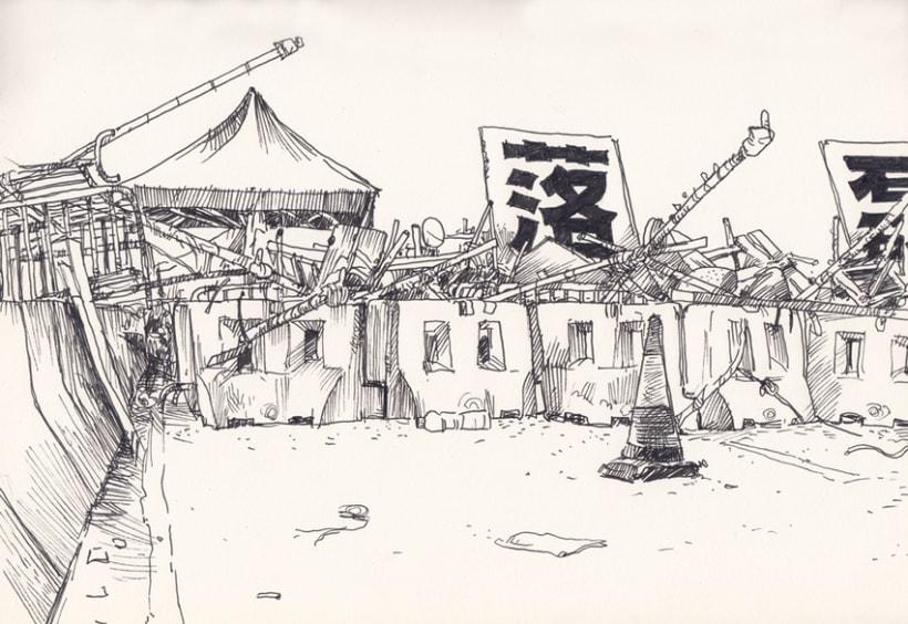 """Dibujando """"Occupy Central"""" en Hong Kong 8"""