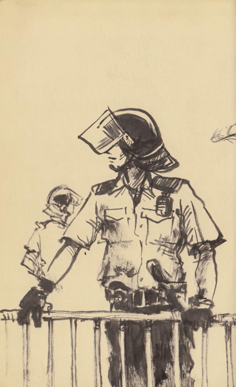 """Dibujando """"Occupy Central"""" en Hong Kong 9"""