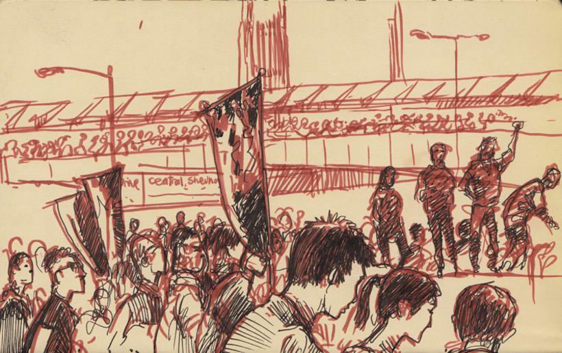 """Dibujando """"Occupy Central"""" en Hong Kong 10"""