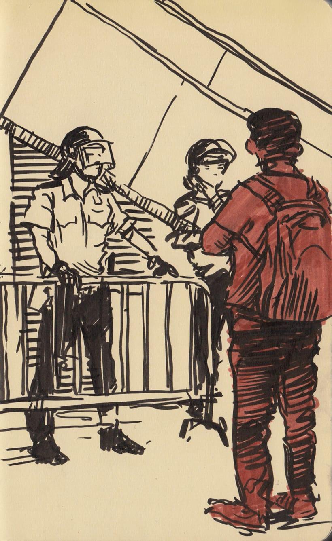 """Dibujando """"Occupy Central"""" en Hong Kong 12"""