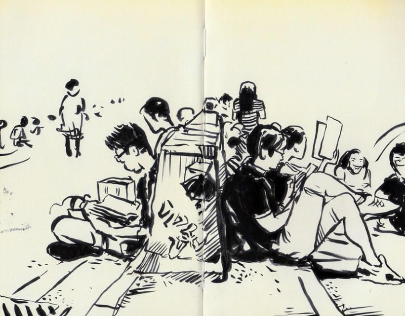 """Dibujando """"Occupy Central"""" en Hong Kong 15"""