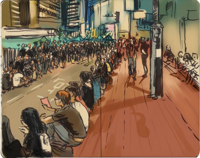 """Dibujando """"Occupy Central"""" en Hong Kong 17"""