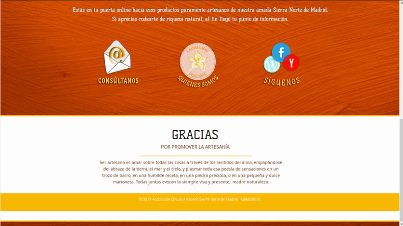 Branding, diseño web, diseño editorial. Asociación artesanal. 1