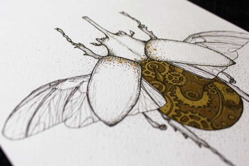 Steampunk rhinoceros beetle. 3