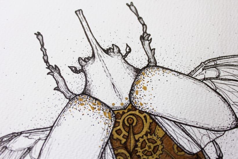 Steampunk rhinoceros beetle. 4