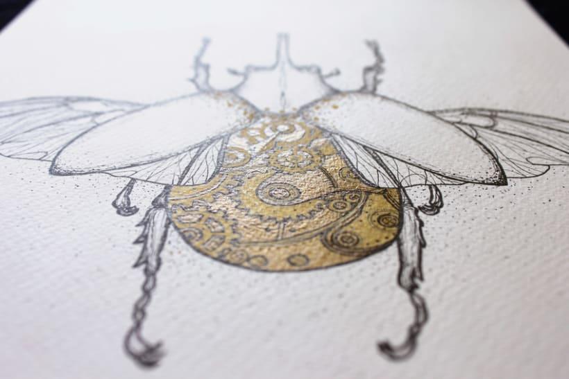 Steampunk rhinoceros beetle. 5