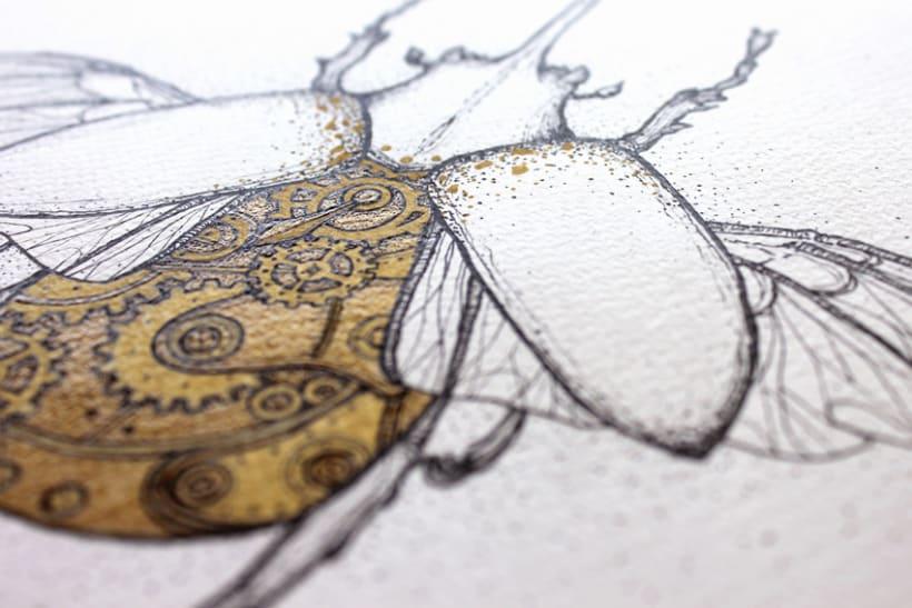 Steampunk rhinoceros beetle. 6
