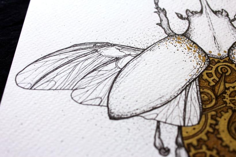 Steampunk rhinoceros beetle. 7