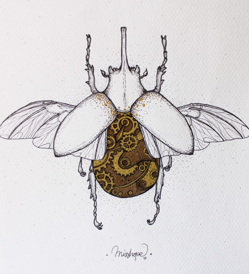 Steampunk rhinoceros beetle. 15