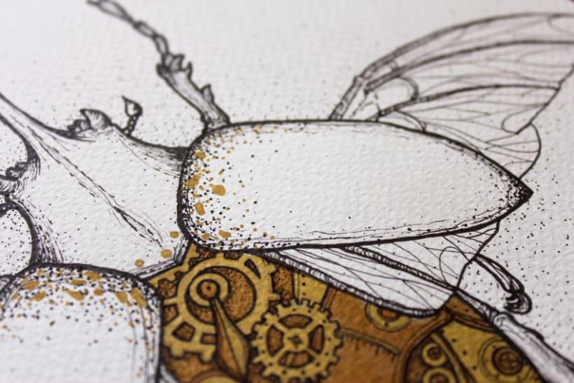 Steampunk rhinoceros beetle. 8