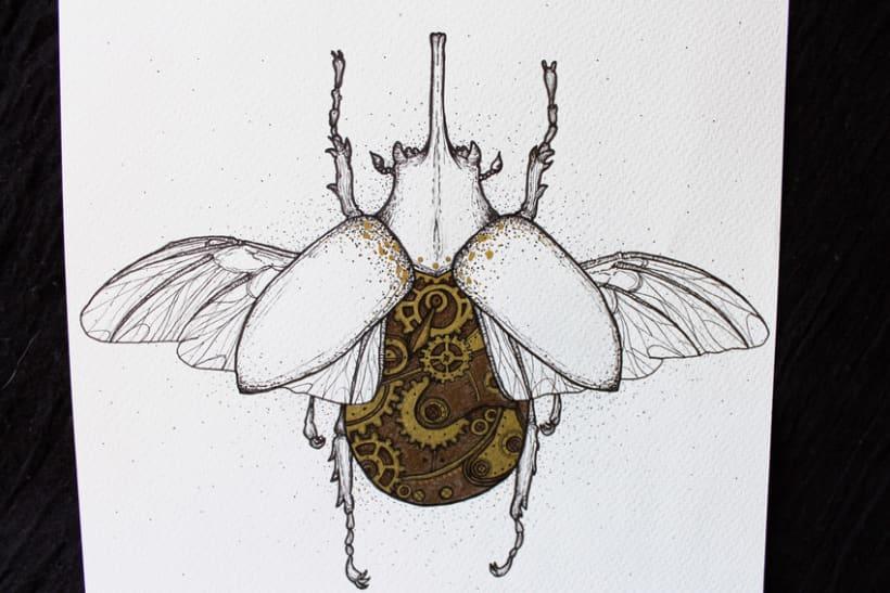 Steampunk rhinoceros beetle. 11