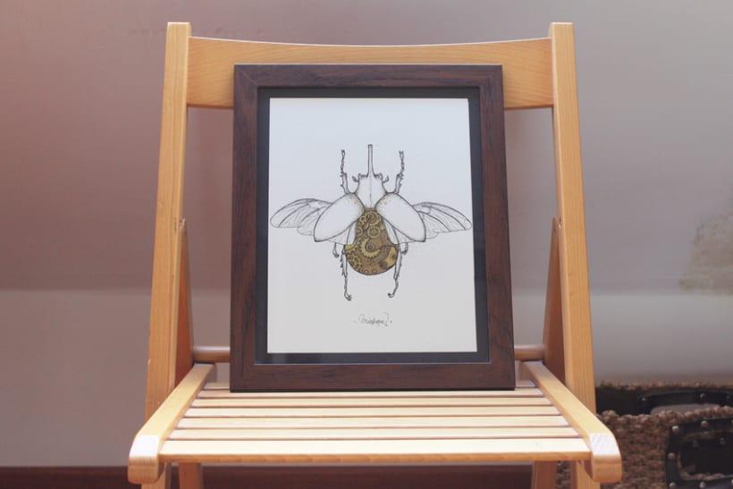 Steampunk rhinoceros beetle. 12
