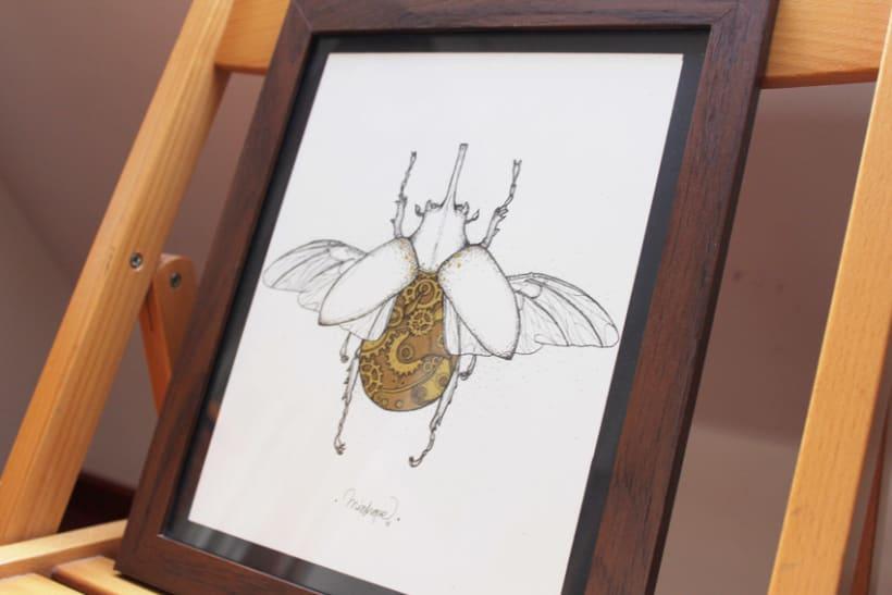 Steampunk rhinoceros beetle. 13