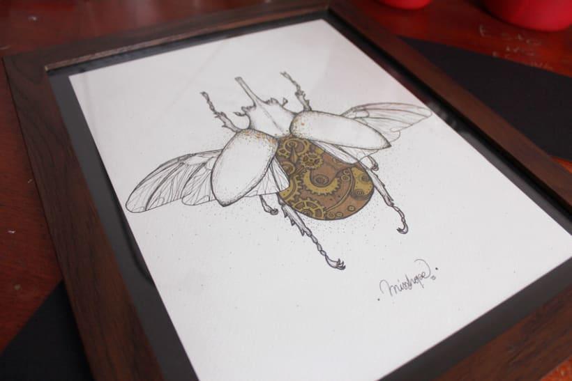 Steampunk rhinoceros beetle. 14