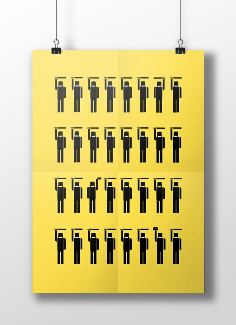 Pictogramas sobre la sociedad Política Española 9