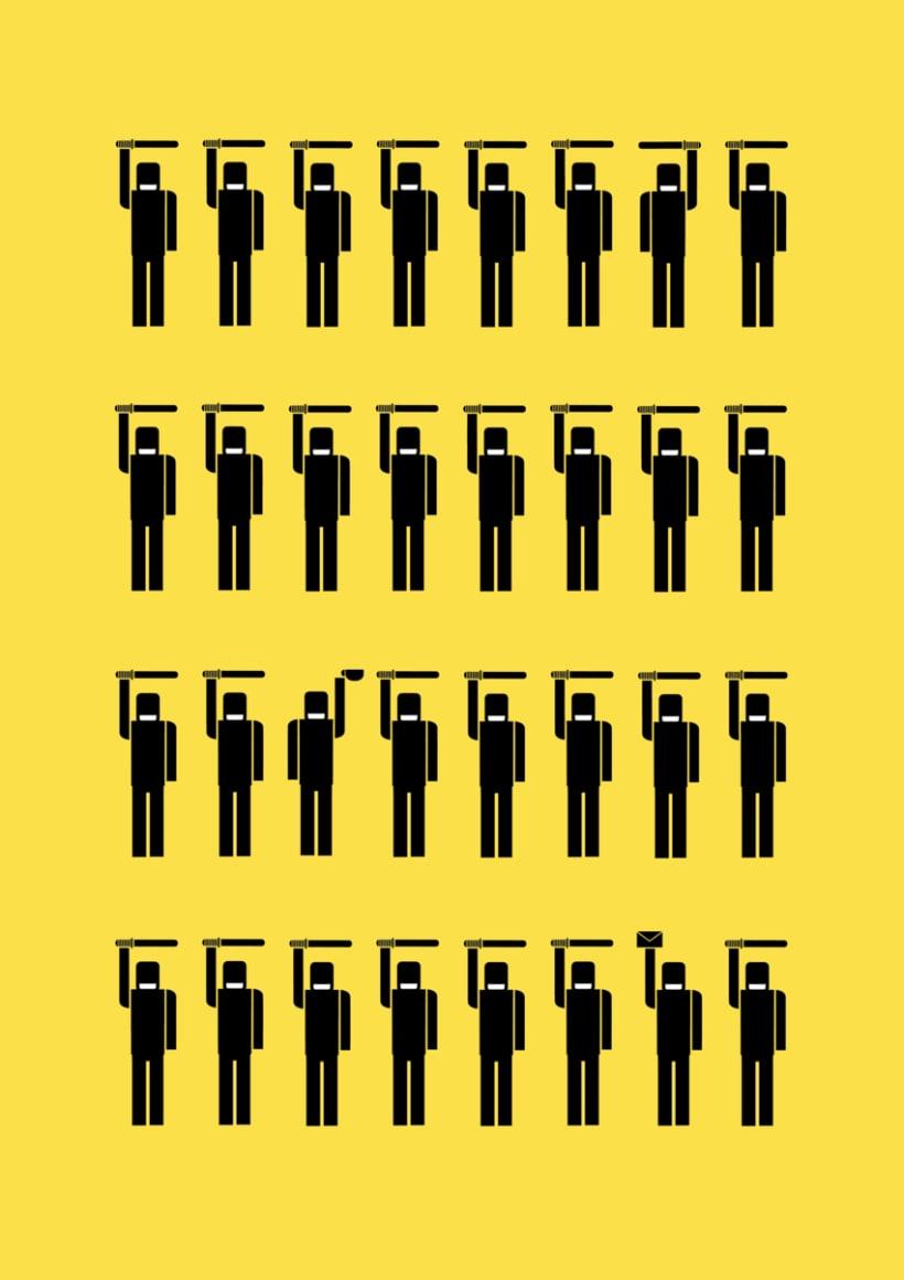 Pictogramas sobre la sociedad Política Española 10