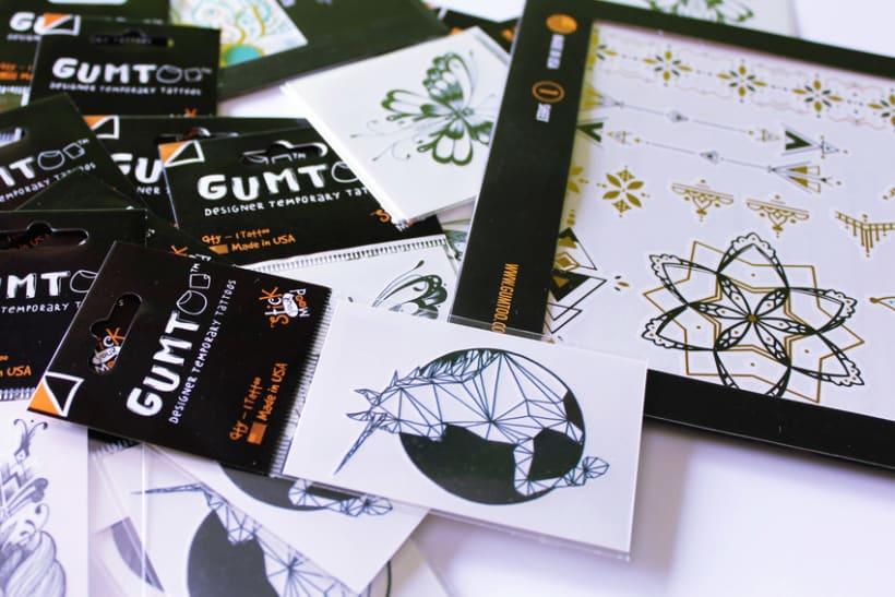 Diseño de tatuajes temporales para Gumtoo 1