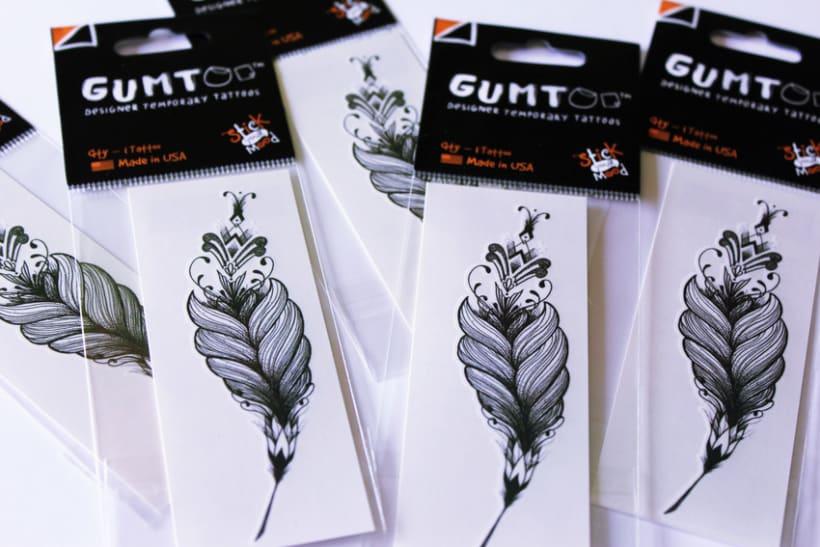 Diseño de tatuajes temporales para Gumtoo 8