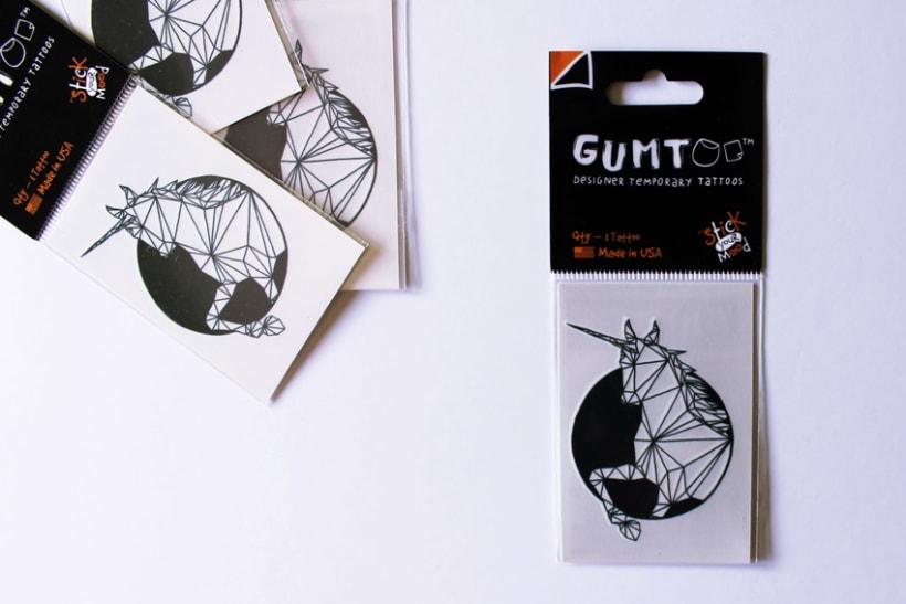 Diseño de tatuajes temporales para Gumtoo 5