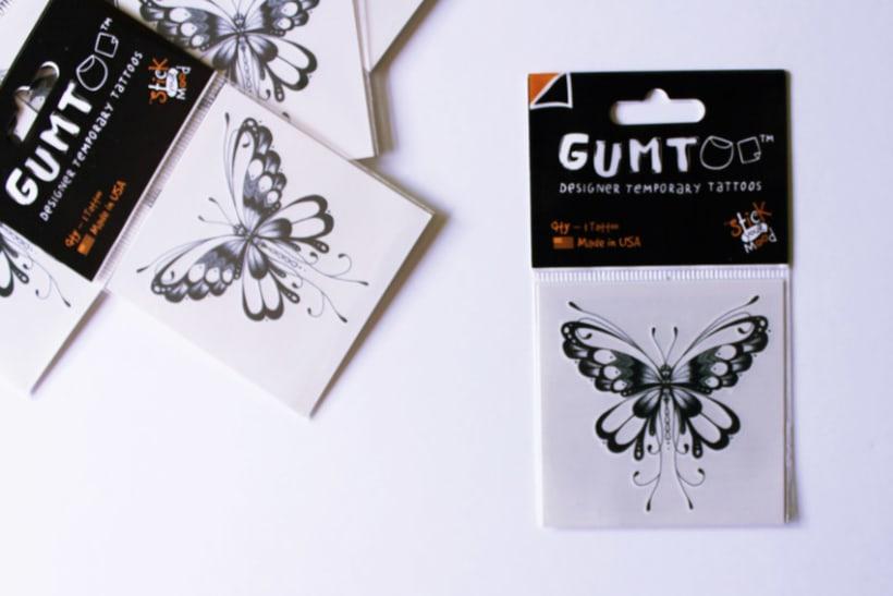 Diseño de tatuajes temporales para Gumtoo 13