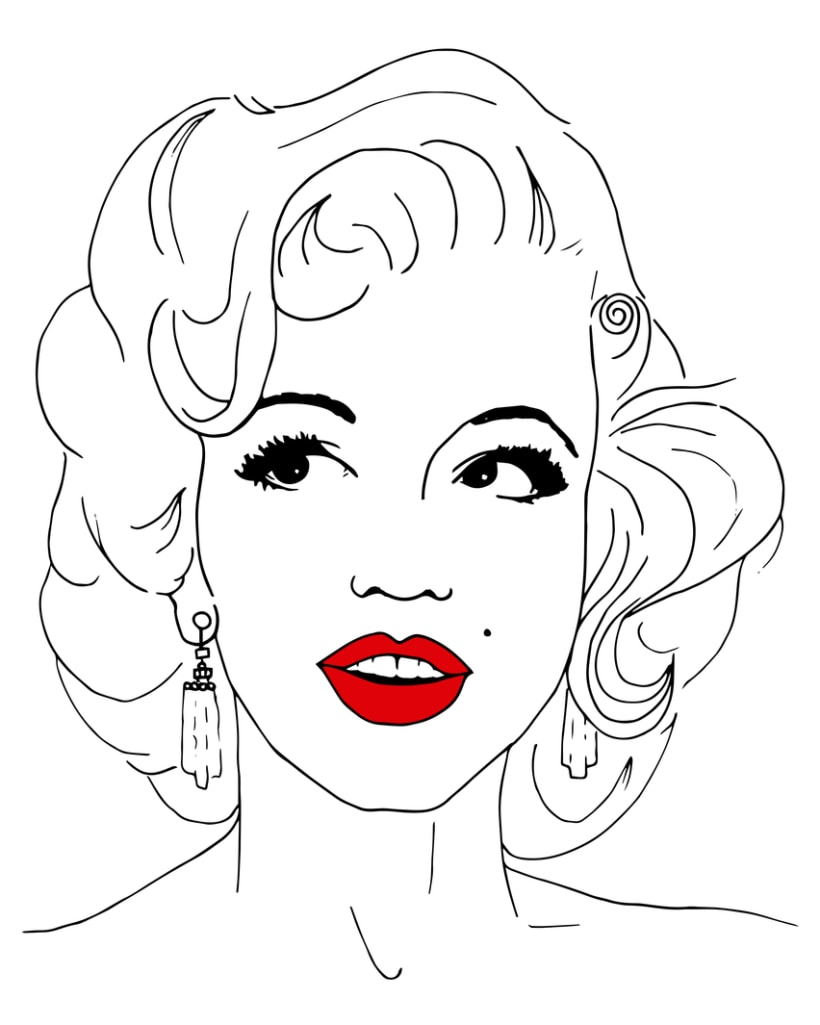 coloring pages marilyn monroe - photo#23