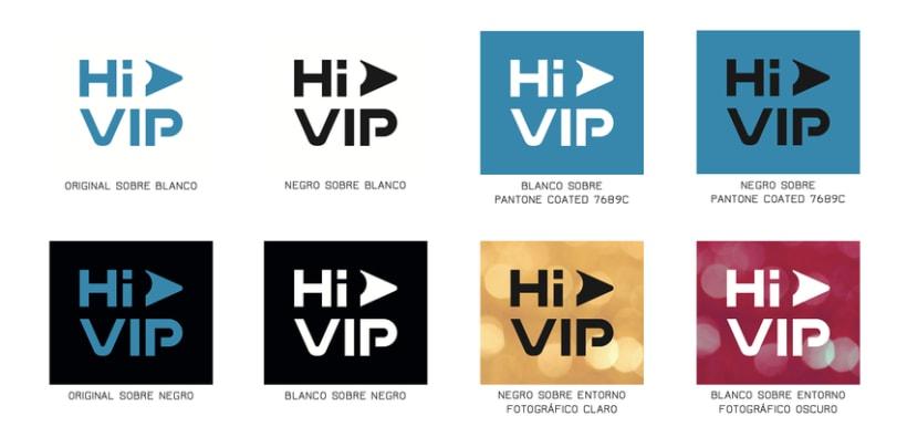 Hi VIP - Renovación de identidad visual corporativa 6
