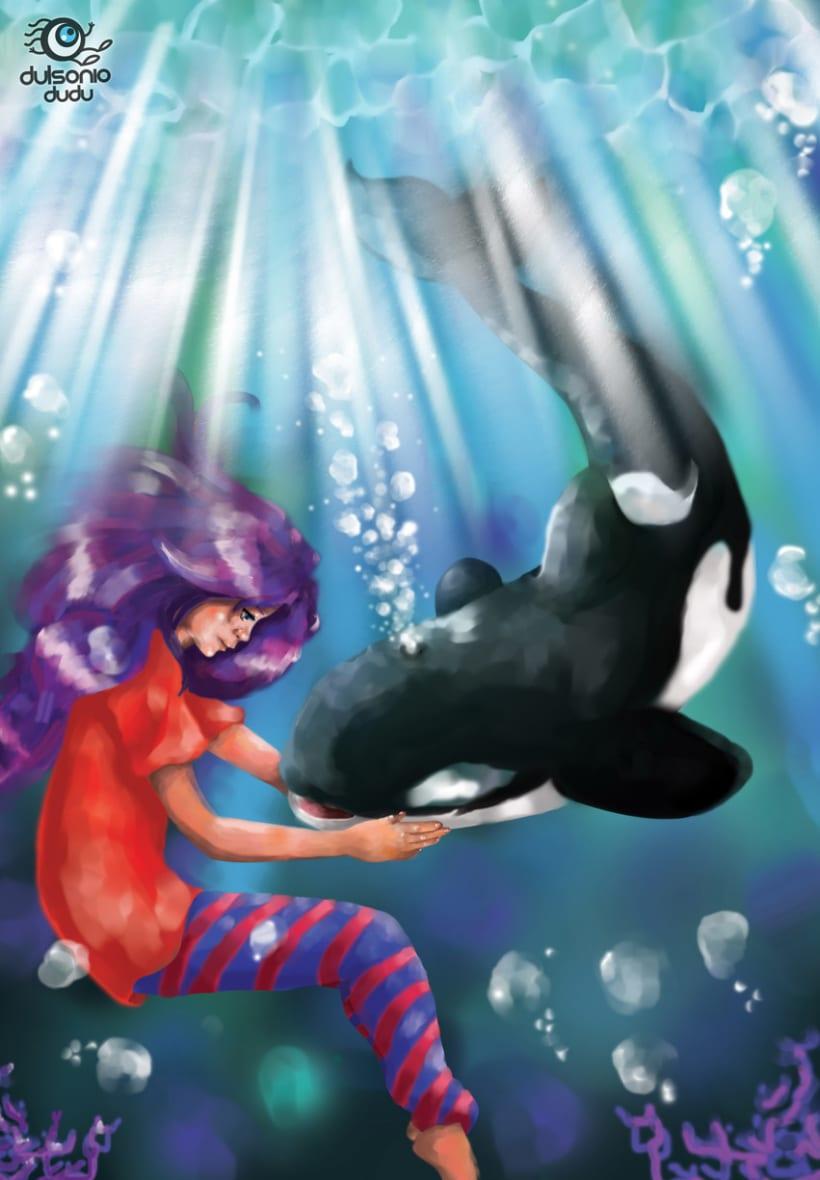 Niña y orca -1