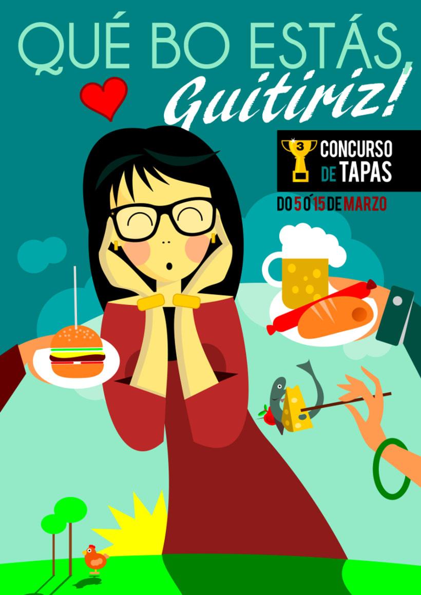 Cartel: Qué Bo Estás, Guitiriz -1
