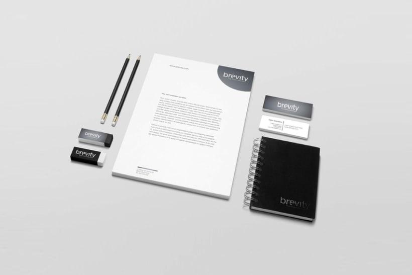 Brevity. Logo, papelería y web (responsive) 1